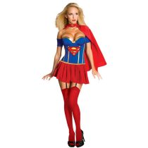 Adult Supergirl Corset Costume 1043