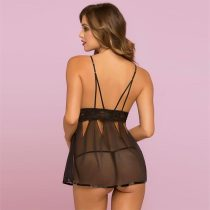 Eye Catching Black Babydoll Set