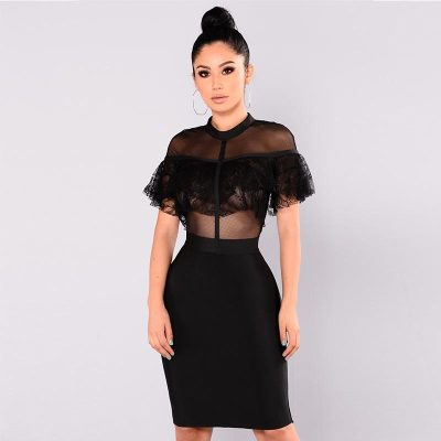 Kaye Lace Ruffle Dress