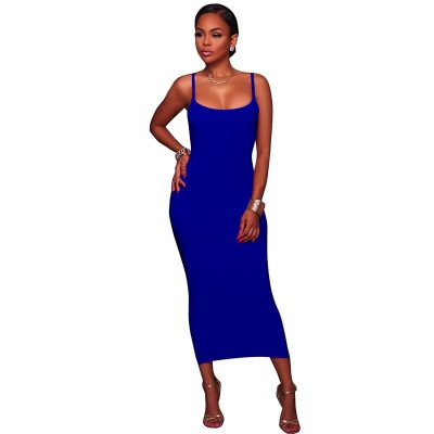 Annabeth Blue Essential Body-Con Midi Dress