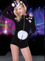 Black Polyester Cat Sexy Costumes
