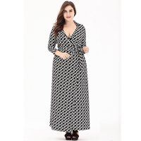 Plus Size Floral Printed Wrap Maxi Dress