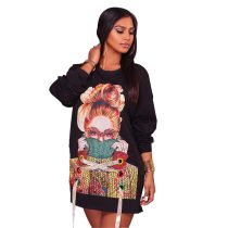 Stella Black Sweater Graphic Dress
