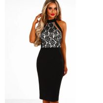Dangerously In Love Black Lace Midi Dress