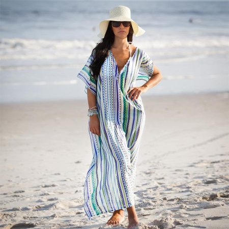 Woman Beach Long Chiffon Tunic