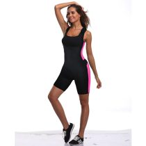 Hook-Up Straps Neoprene Latex Sweat Body Shaper With Zipper
