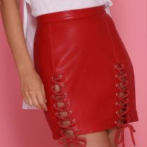 Antigua Mini Skirt -Red