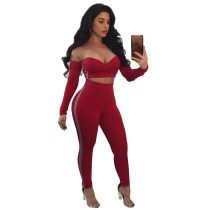 Carrie Criss Cross Off the Shoulder Legging Set