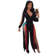 Side Split Women Layered Jumpsuit