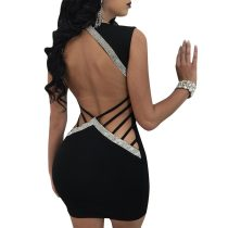 Sexy Women Hot-stamping Hollow Out Bodycon Clubwear