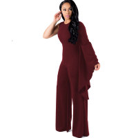 Occasional Plain Jumpsuit with Single Wide Sleeves