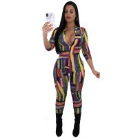 Zipped Up Sexy Colorful Jumpsuits