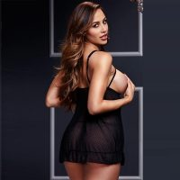 Baci classic Sheer Open Cup Babydoll and Panty