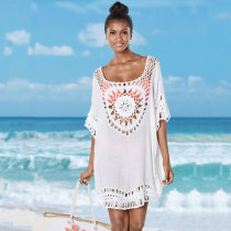 White Crochet Cover-Up Beachwear