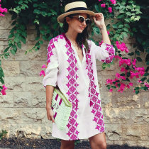 Mykonos Kaftan Tunic Top or Beach Cover Up