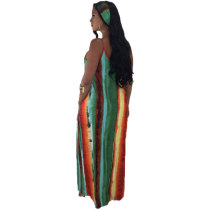 Boho Girl Spaghetti Strap Maxi Dress and Head Scarf