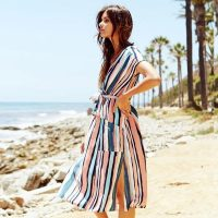 Print Santorini Dress With Pockets