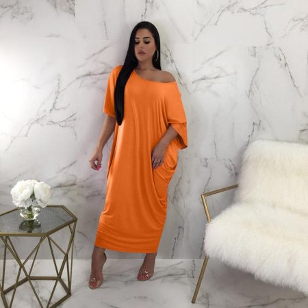Solid Color Loose Maxi Dress