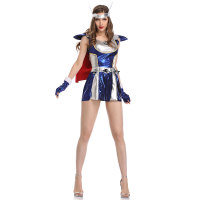 Sexy Warrior Cosplay Costume Fighter Role Play Dress