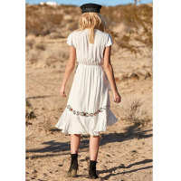 Ruffle Tie Front Midi Beach Dress