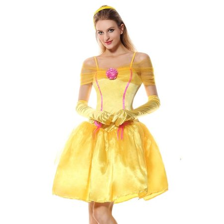 Princess Belle Costume Dress and Headpiece