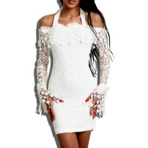 Lace Sexy Chic White Off Shoulder Party Dress