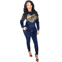 Sequin Sweatshirt & Pants Set