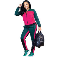 Kenya Splicing Contrast Jogger Set