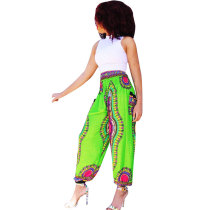 Bohemian Printed Wide-leg Beach Pants