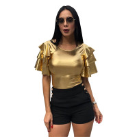 Chic Ruffle Design T-shirt