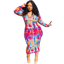 Super Size Fat Print Dress