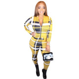 Casual Plaid Printed 2 Piece Set