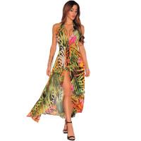 Backless Chiffon Irregular Beach Dress
