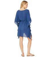 Royal Blue Chiffon Bat Sleeve T-shirt