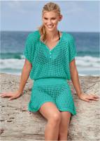 Mesh Knit Beach Blouse