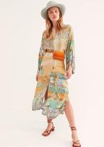 Printed Cardigan Beachwear
