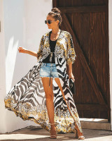 Chiffon Leopard Print Beach Cardigan
