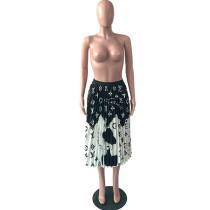 Casual Printed Skirt