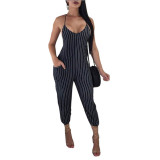 Casual Striped Camisole Jumpsuit