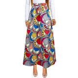 Casual Printed Long Skirt