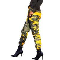 Lace-up Denim Camouflage Pants