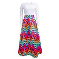 Casual Printed Long Skirt
