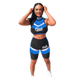 Letter Sport Crop Top and Shorts