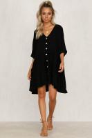 Button Beach Dress