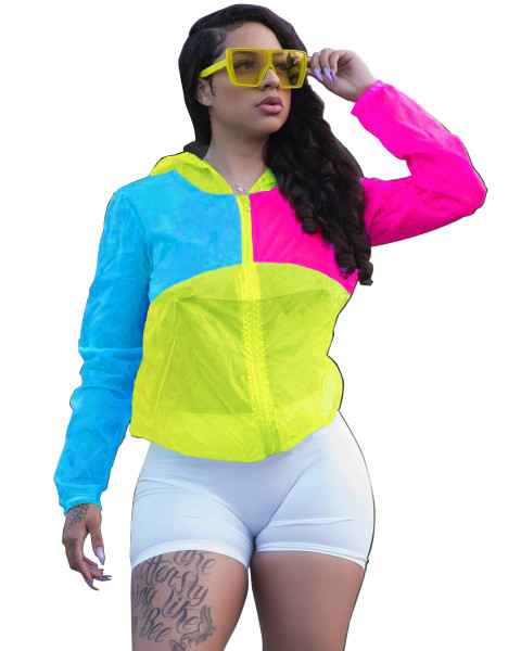 Multi-colored Sun Protection Blouse