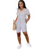 Solid Color Sports Two-Piece Set