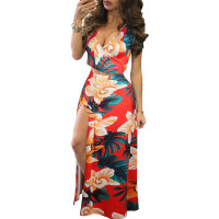 Copy Classic Print Floral Crop Top and Skirt Set