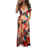Copy Classic Print Floral Crop Top and Skirt Set