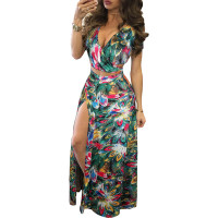 Classic Print Floral Crop Top and Skirt Set