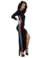 Casual Splicing Split Maxi Dress